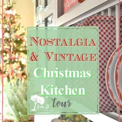 A Christmas Kitchen with Vintage Nostalgia