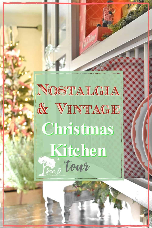 A Christmas Kitchen with Vintage Nostalgia