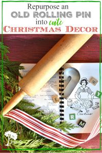 Christmas rolling pin decor diy