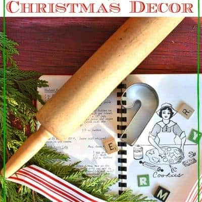 Repurposed Rolling Pin Decor for Christmas