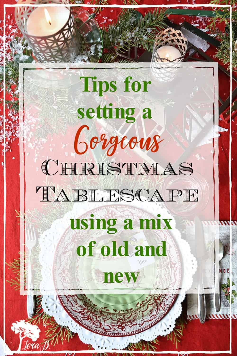 A Christmas Tablescape with Vintage Tree Stands