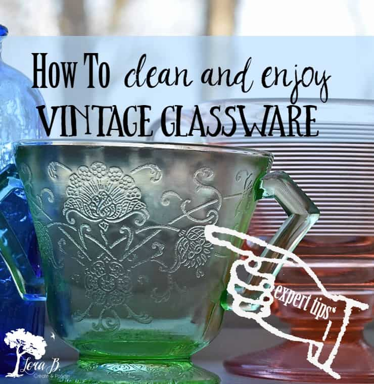 Vintage glassware can be cleaned with a recipe of common household cleaners. Once sparkling, it can be enjoyed for function and beauty.