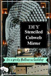 DIY Cobweb Mirror
