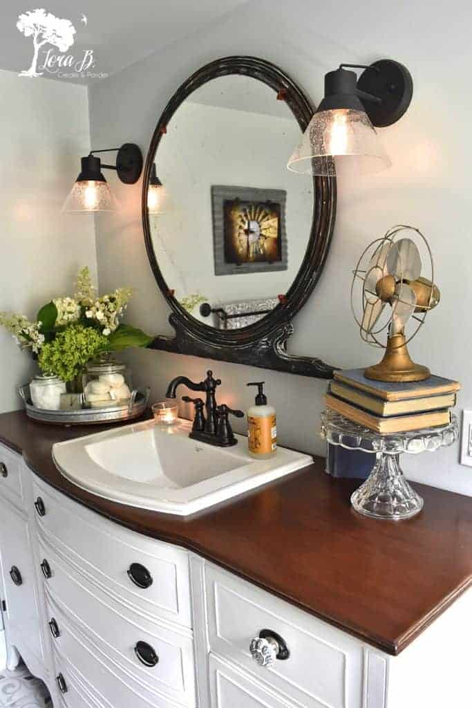 remodeled vintage bathroom