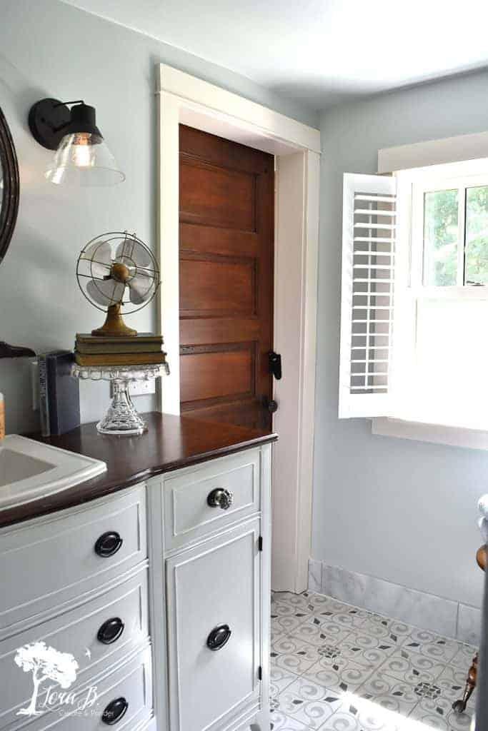 remodeled vintage modern bathroom