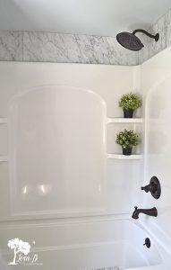 arched bathroom tub surround