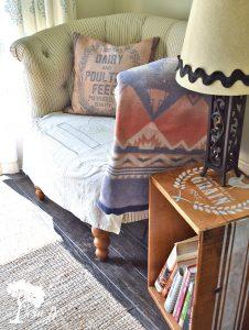 cozy reading nook in kitchen