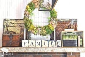 vintage mantel decor
