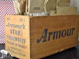 vintage Armour box