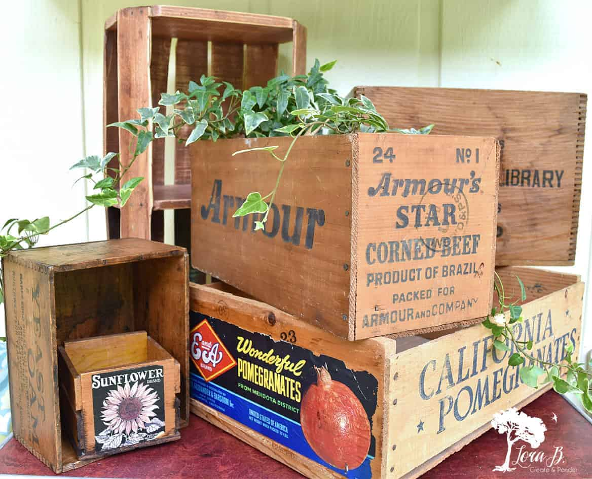 Easy and Fun Ways to Decorate with Vintage Wooden Crates