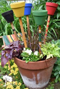how to upcycle vintage croquet mallets