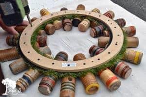 repurposed croquet mallet head wreath how-to