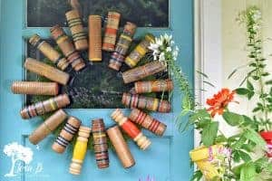 how to repurpose croquet mallets into a wreath