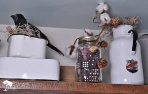 Decorating with Crows and Enamelware