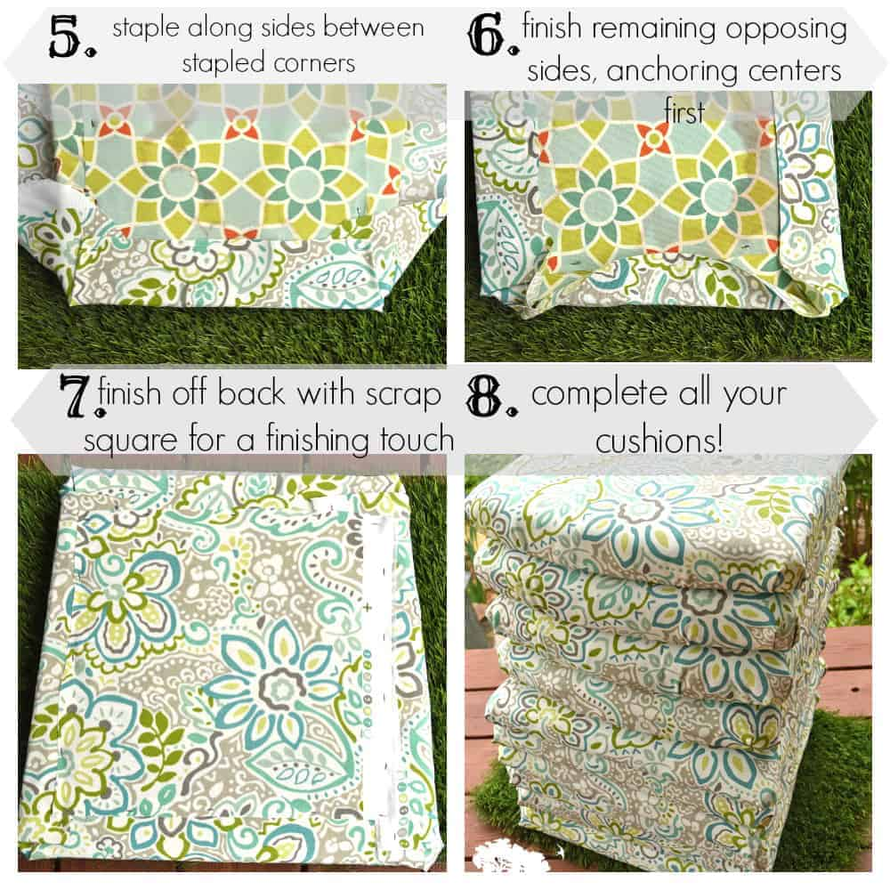 patio stapled seat cushion how to