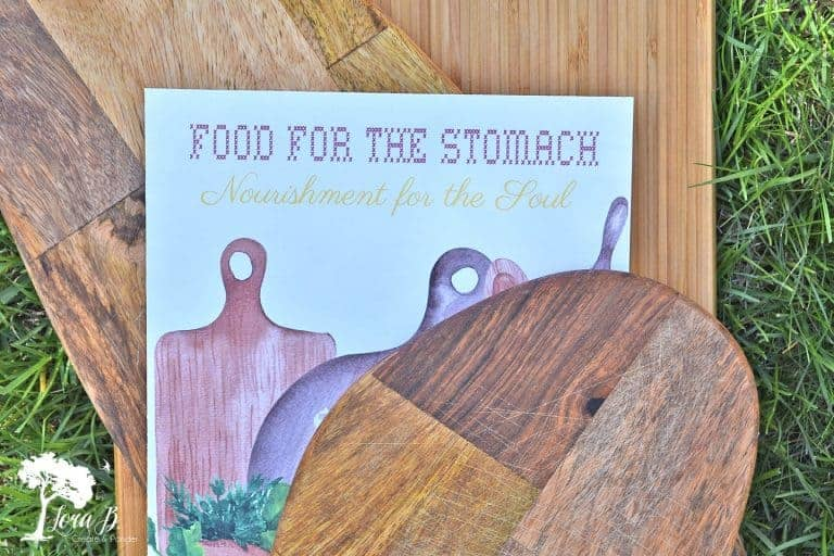 Cutting Board Kitchen Printable and Simple Decor Ideas