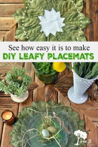 diy leafy placemats
