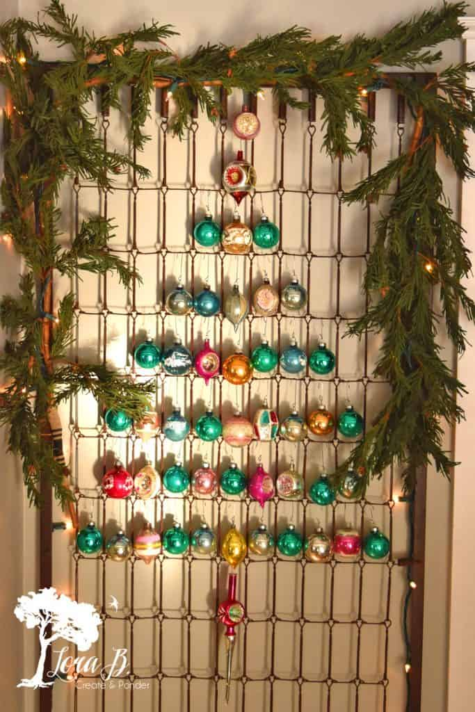 Bedspring Shiny Brite Tree