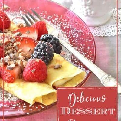 Delicious Dessert Crepes
