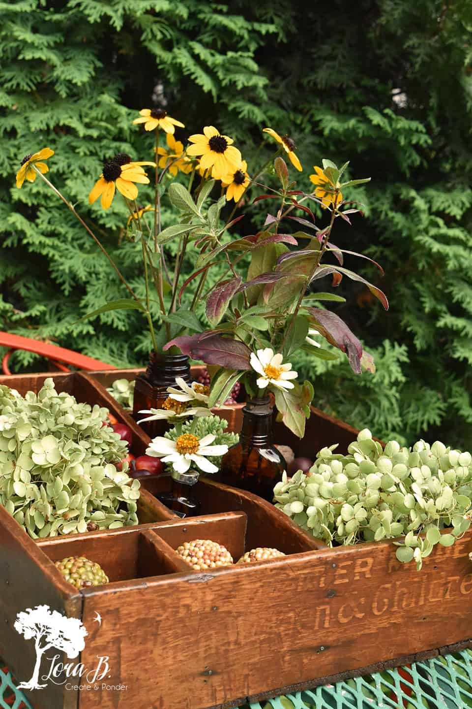 Refresh a vintage divided seed tray and enjoy endless decorating possibilities!