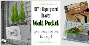 Repurposed Drawer Wall Pockets
