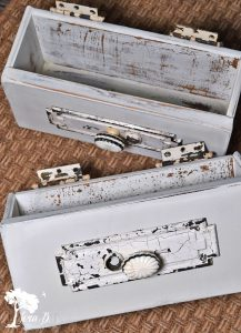 Repurposed Drawer Wall Pockets