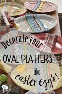 Oval platter Easter Eggs