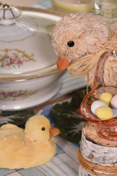An Organic, Vintage Easter Table