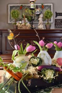 Vegetable themed centerpiece