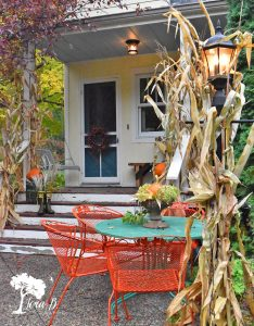 Fall Decorated Porch and Patio