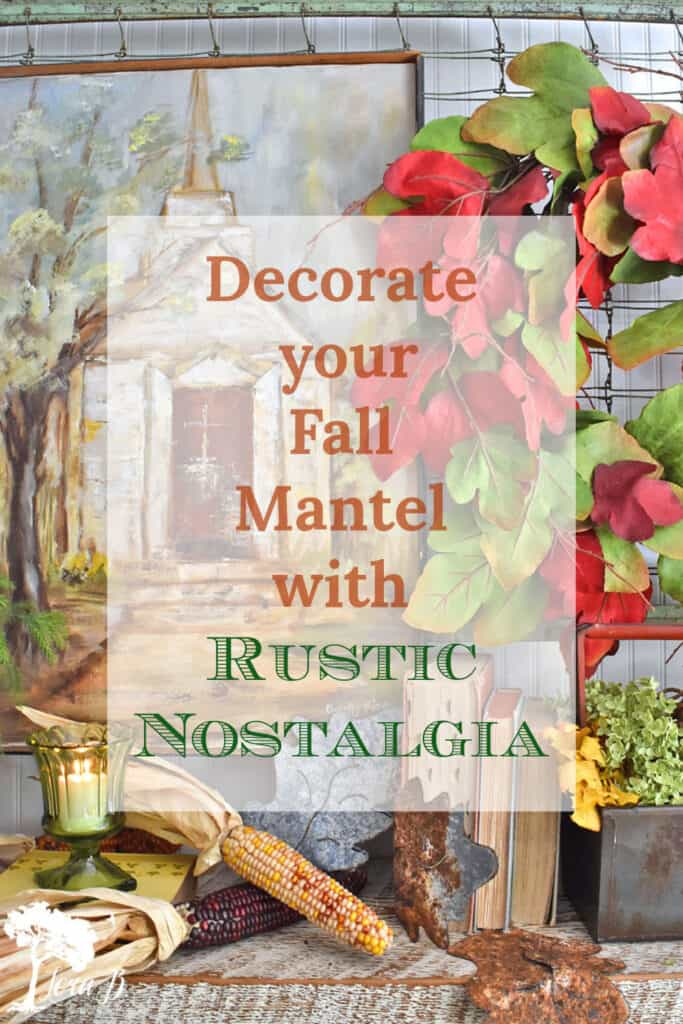 Fall Mantel decorating ideas using vintage finds.