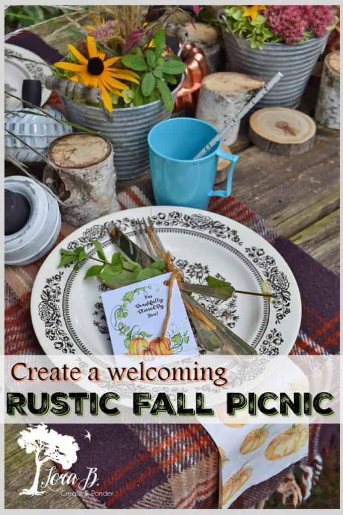 fall picnic table setting ideas