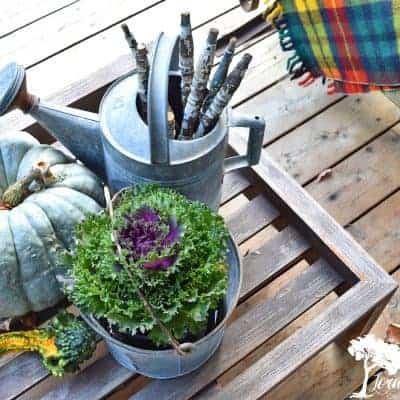 Decorating the Fall Porch with Vintage Junk Finds