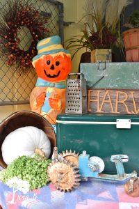 vintage Halloween yard art