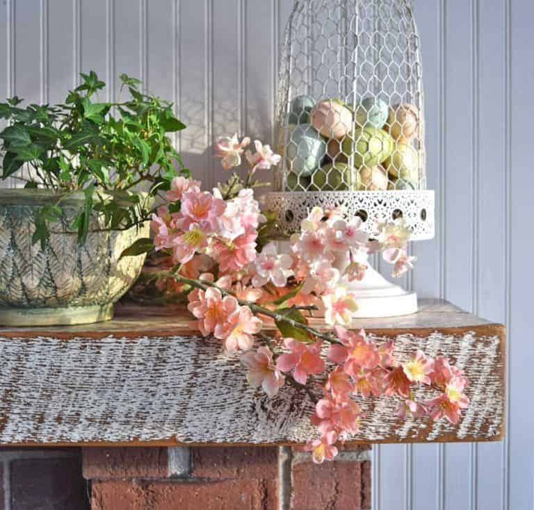 How to Decorate a Simple Spring Mantel