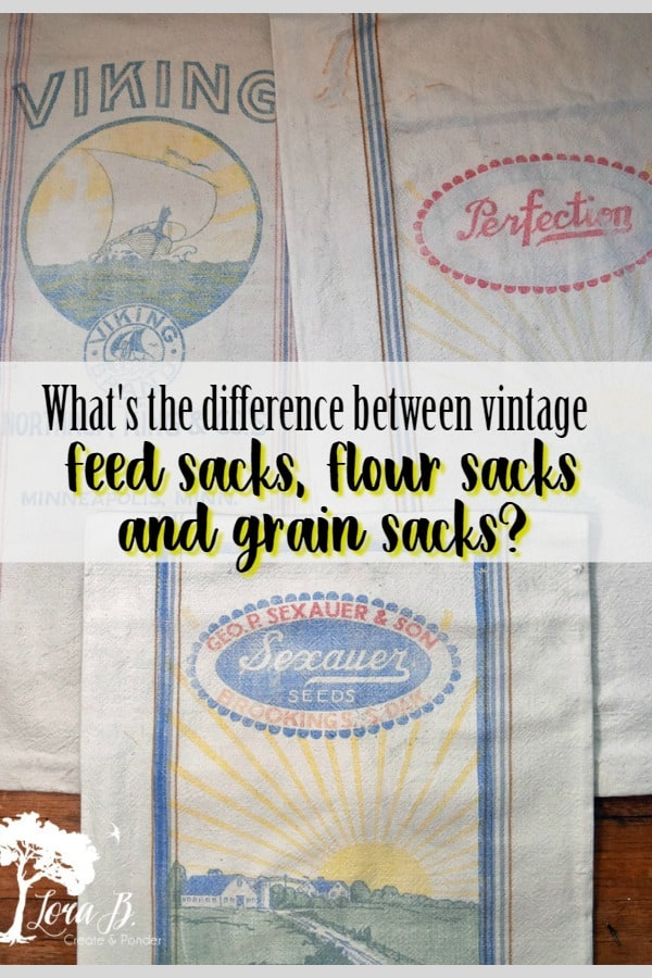 What's the difference between vintage feedsacks, flour sacks and grain sacks? Here's a little history lesson to explain... #vintagefeedsacks #vintagefabrics #vintagefloursacks #vintagegrainsacks #repurposing #antiquefabrics