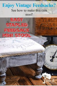 feedsack mini stool how to