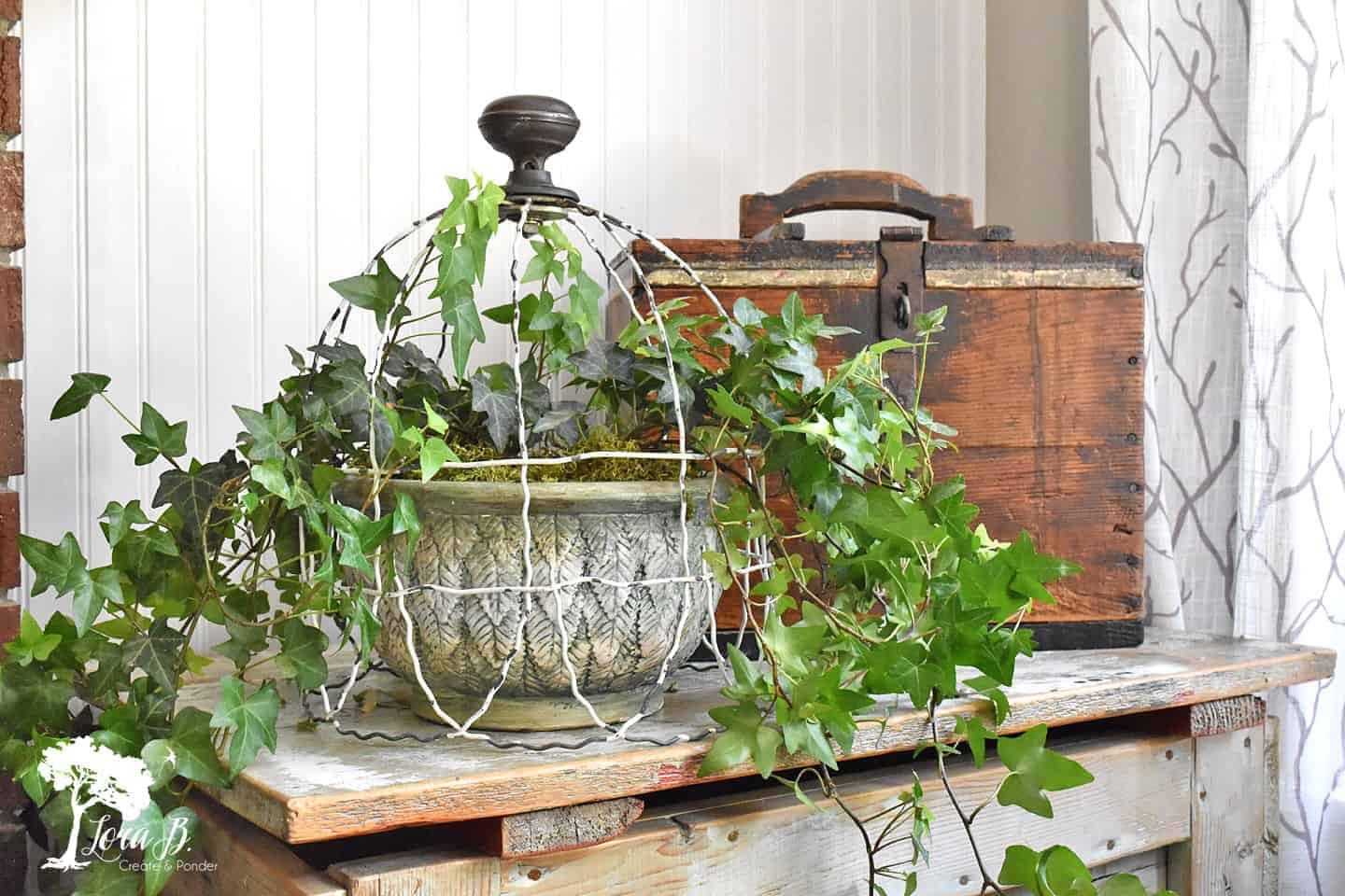 Upcycled Old Garden Fencing Cloche How To