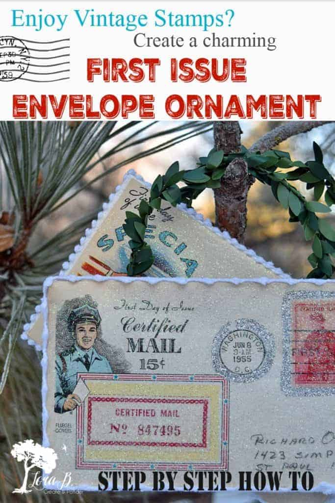 DIY stamp collector ornament