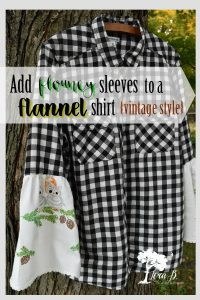 Add Flouncy Sleeves to a Flannel Shirt