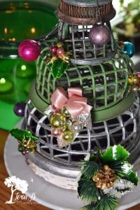 Flower Frog Christmas Tree