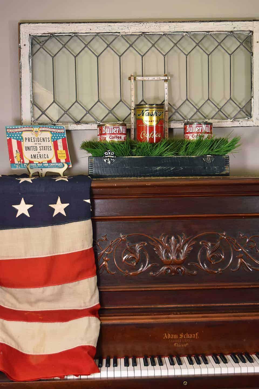 vintage patriotic decor ideas