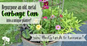 Repurposed Garbage Can Planter