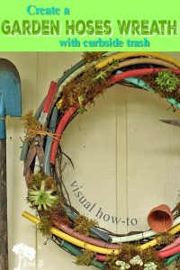 garden hoses wreath DIY