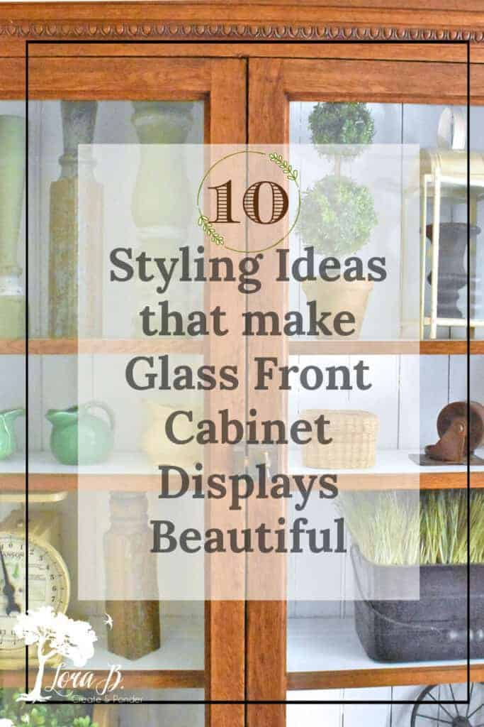 Glass front cabinet display ideas