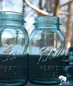 vintage aqua ball jars