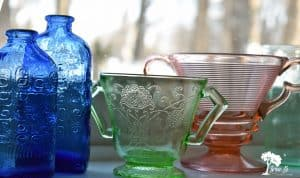vintage colored glassware