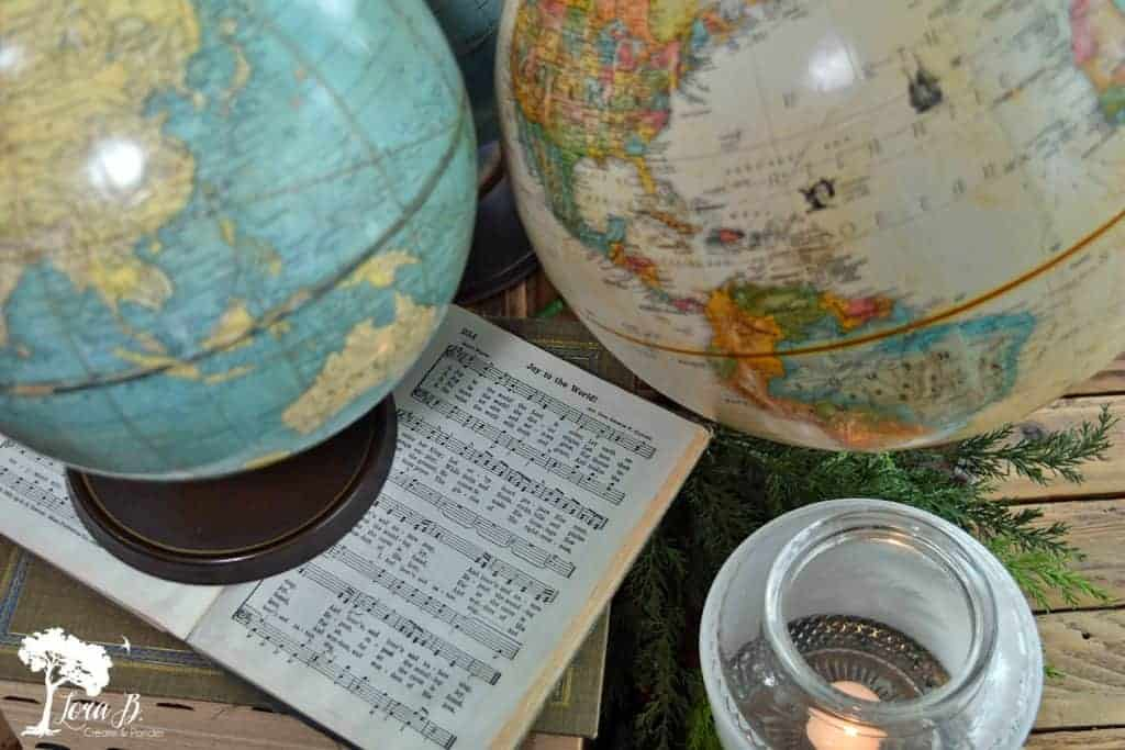 Decorating with Globes for Christmas