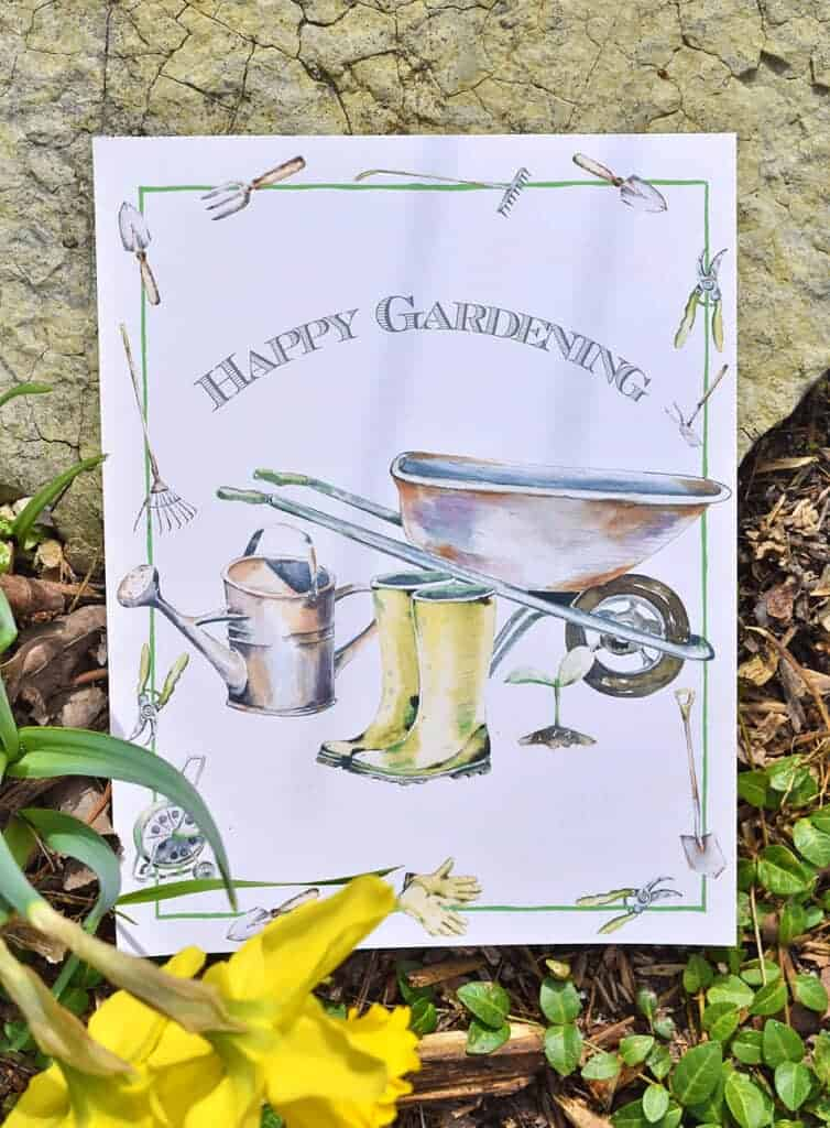 Happy Gardening Printable