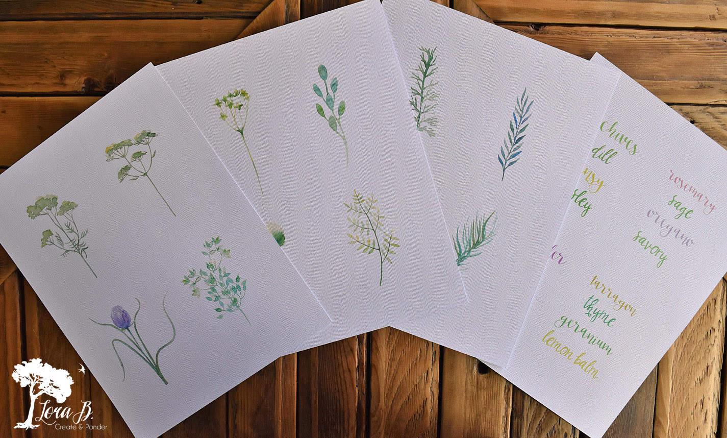 Herbs printables